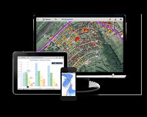 Abb. 2: Cadenza bietet Zugang für unterschiedliche Nutzergruppen: Cadenza Desktop für den Profi am Desktop, Cadenza Web für viele Gelegenheitsnutzer, Cadenza Mobile für Anwender im Außendienst.