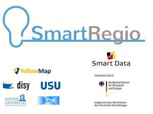 Abb. 1: Das vom Bundesministerium für Wirtschaft und Energie (BMWi) geförderte Forschungsprojekt SmartRegio wurde von einem Projektkonsortium aus fünf Forschungspartnern umgesetzt.